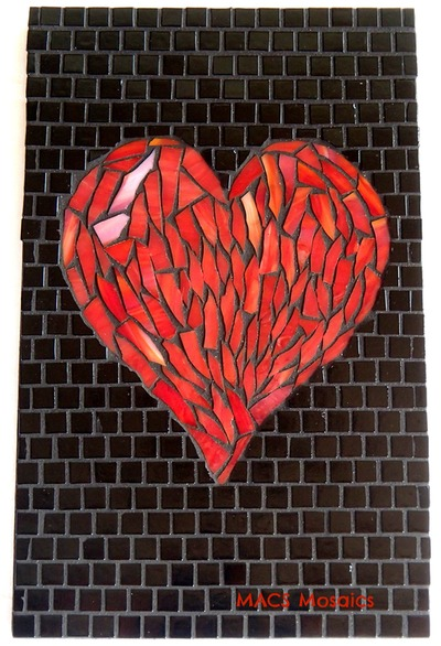 My Mosaic Art Flaming Heart